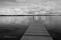 Bewdley Dock (Jeannot7) Tags: sky bw lake ontario water monochrome docks bewdley ricelake