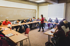 M Lindsay Photography (North Central College) Tags: magazine student meghan classroom diversity lindsay arabic teaching professor ncc faculty mena 2015 arabicclass commercialwork northcentralcollege laurapohl esratasdelen