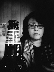 Contemplating the Beer (CarusoPhoto) Tags: 6 beer bar drink plus iphone
