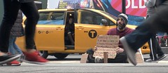 Times Square 168 (stevensiegel260) Tags: newyork timessquare homeless panhandler street taxi streetphotography