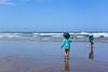 A bit cold but fun (Marian Pollock (Weiler)) Tags: philipisland children surf reflections waves sea sand sunny playing wet victoria australia beach