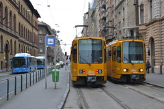 BKK NJV-186 - 1535 & 1541 (Will Swain) Tags: blaha lujza tér budapest 7th november 2016 tram trams light rail railway rails transport travel europe hungary east eastern county country central capital city centre bkk 1535 1541 njv186 njv 186