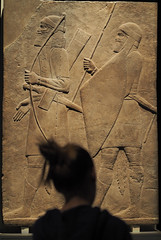 Assyrian Soldiers (Kaptain Kobold) Tags: kaptainkobold museum mural relief assyrian soldiers warfare warriors silhouette artefact ancient exhibition nationalmuseumof australia britishmuseum