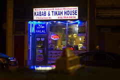 Quiet Night (k.w.b.) Tags: toronto street streetphotography streetsto cabbagetown eastend kabab halal taxi cab night neon canada 3652017 365project project365 day3 3365