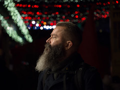 intense (Cosimo Matteini) Tags: cosimomatteini ep5 olympus pen m43 london portrait michaelwhite southbankcentre profile intense beard man bokeh lights