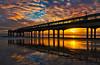 Winter Sunset (Anthony White) Tags: england gb bournemouth boscombe pier sunset seascape winter january paisaje nature beautyinnature sky southcoast reflection sand