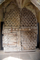 Oldest Castle Doors in Europe (davids pix) Tags: chepstow castle south wales border wooden medieval norman doors ancient oldest surviving 2015