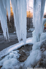 valganna01 (§imo) Tags: grotte valganna ghiaccio cascata inverno varese lombardia italia ice winter waterfall sunset tramonto freddo cold silver simonescantamburlo natura nature acqua water cave