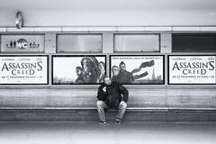 Central Character (Ivan Rigamonti) Tags: streetphotography blackandwhite zurich assassinscreed switzerland people street bw europe bench cinema public outdoors urban urbanexploration man sitting monochrome smoking waiting movie bnw publictransport bellevue ivanrigamonti