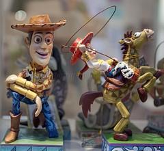 Cowboy + Cowgirl (l plater) Tags: sheriffwoody jessietheyodellingcowgirl toystory waltdisney queenvictoriabuilding qvb sydney figurine