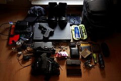 what's in my bag 2017, ver. 2 (wmmmk) Tags: whatsinyourbag whatsinmybag canon handheld eos 5d 5dmk2 glock 17 9mm weapon lenovo thinkpad travel tactical military deployment cap personal equipment 24105l information officer it cyber oakley who yellow pistol data warfare boots black indoor pc laptop gun protection backpack