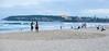 63+154: Beach fishing (geemuses) Tags: manly manlybeach queenscliff queenscliffbeach dusk sunset beach water sea ocean nsw australia northernbeaches surf sand fishing beachvolleyball fishermen walkers exercise