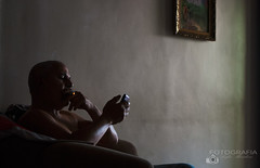 My father and his light. (Anfer Mendoza) Tags: ligth natural retrato venezuela tarde life