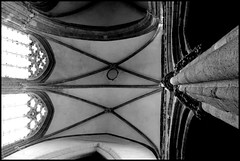 Evron (Mayenne) (gondardphilippe) Tags: evron mayenne maine paysdelaloire noiretblanc blackandwhite eglise