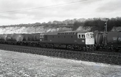 6541 is seen shunting tank wagons possibly at Micheldever? around 1970. I Cuthbertson collection (I C railway photo's) Tags: class33 6541 crompton