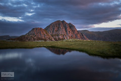 The mighty Tryfan! (SLP_Photography) Tags: tryfan llyn y caseg fraith sunrise red light glow clouds moody stormy skies sky reflection water sony a7ii 1635mm landscape photography snowdonia wales welsh