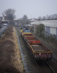 70-807-6M50-Black-Pad-footbridge-Coventry-18-1-2017- (D1021) Tags: class70 70807 colas 6m50 engineers departmental blackpad threespiresjunction coventry westmidlands nikond700 d700
