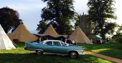 Wedding reception on the village green...