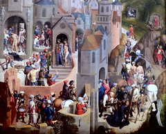 IMG_2103H Hans Memling .1430-1494.Bruges. La Passion du Christ. the Passion of Christ. vers 1470. Turin Sabauda. (jean louis mazieres) Tags: peintres peintures painting musée museum museo italie turin torino sabauda hansmemling