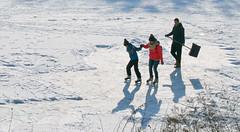 Jan 21: Frozen Lake and Family Enjoyment (johan.pipet) Tags: flickr jazero lake devinske bratislava devinska nova ves ice winter zima lad korčuíovanie rodina family sobota saturday sunny freeze snow sneh skate skatering trial korčule slovakia slovensko january ľad chilli arctic mráz eu palo bartos bartoš canon pond rybník europe