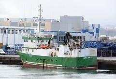 """""""AKCHAR"""" - IMO 8802399 (Rick Vince) Tags: akchar imo8802399 trawler ship puertodelaspalmas fishingvessel fishingship"""