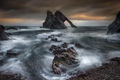 Stormy Bow Fiddle (devlin11) Tags: bow fiddle rock scotland scenery sunrise seaside sea sky seascape morning nikon landscape portknockie travel
