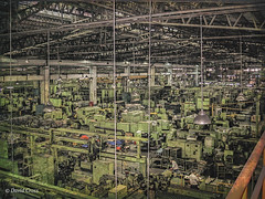 Factory Work (HSS) (buffdawgus) Tags: asia canonpowershots400 electricmotorcompany factory industrial lightroom6 motorfactory teco taipei taiwan topazsw