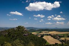 Gohrisch / Papststein (Thomas Berg (Cottbus)) Tags: mountains germany deutschland schweiz switzerland sandstone himmel wolken elbe saxon schsische elbsandsteingebirge gohrisch papststein