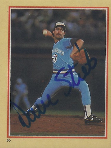 1984 Fleer Sticker Dave Stieb 85 Pitcher Autographed