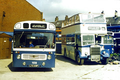 Slide 034-00 (Steve Guess) Tags: city uk blue england bus open top lancashire topless gb lancaster titan panther morecambe 34 topper 109 leyland bashful lancs 34mtd ltd109f