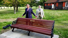 David Stuart Davies formally dedicates the bench to JB (photo by Alistair Duncan)