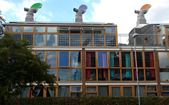 BedZED ecovillage, Hackbridge, London Borough of Sutton (3) (tonymonblat) Tags: building london architecture surrey sutton ecovillage turnerprize bedzed hackbridge londonboroughofsutton