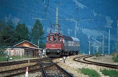 169 003   Oberammergau  01.09.79 (w. + h. brutzer) Tags: analog train germany deutschland nikon eisenbahn railway zug trains db locomotive 169 oberammergau lokomotive e69 elok eisenbahnen eloks webru