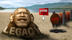 Barack Obama Rejects Keystone (DonkeyHotey) Tags: art face photomanipulation photoshop photo election unitedstates president political politics cartoon manipulation caricature politician campaign pipeline democrat 44 karikatur caricatura commentary democraticparty barackobama politicalart commanderinchief karikatuur politicalcommentary donkeyhotey keystonexl