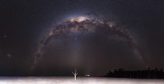 Milky Way over Lake Dumbleyung - 35mm Panorama