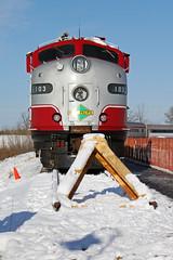 Head On (AndyWS formerly_WisconsinSkies) Tags: railroad train railway locomotive railfan e9 emd wsor wisconsinandsouthern eunit slrg e9a iowapacific