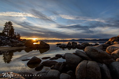 winter sunset (Aaron_Smith_Wolfe_Photography) Tags: sunset water nevada tahoe shore sandharbor