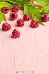 raspberries (Food Photography Studio) Tags: pink food fruits leaves fruit bright raspberries unprocessed fesh freespace