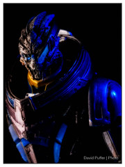 In the dark (Puffer Photography) Tags: stilllife studio toys videogames 2015 garrus playartskai masseffect3