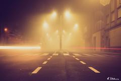 Santa Maria del Páramo: Noche de Niebla - Reino de León (M.Pellitero) Tags: nocturna niebla largaexposición estelas santamaríadelpáramo