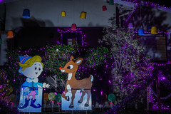 a couple of misfits (pbo31) Tags: california christmas black color night dark season lights nikon holidays december neighborhood bayarea eastbay dentist alameda alamedacounty misfits thompsonstreet gumdrops 2015 rudolphtherednosedreindeer boury pbo31 d810