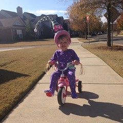 An Elf Riding a Bike!