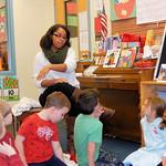 A student teaching preschoolers
