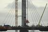 Construction of the mersey gateway bridge, Widnes / Runcorn, England. (Barry Miller _ Bazz) Tags: widnes runcorn england canon 5d mark3 300mm f4l 14 extender river mersey construction work crane lifting