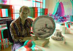 Royal Delft 3D (wim hoppenbrouwers) Tags: deporceleynefles delft3d delftware 3d anaglyph stereo redcyan