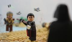 Vader vs Chirrut (Jamesbrick) Tags: lego star wars rogue one story 2016 scarif uwing tie fighter beach vader vs chirrut battle fight showdown death plans jamesbrick rebels