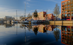 Groningen Oosterhaven (koos.dewit) Tags: fuji fujixe2 fujifilm fujinonxf1024mm groningen groningenoosterhaven koosdewit koosdewitnl oosterhaven boats cityscape colors colours harbor lunchwalk reflections ships water