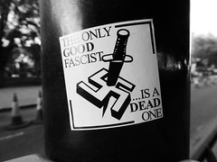 The only good fascist is a dead one (duncan) Tags: sticker fascist swastika