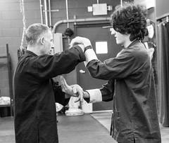 "Sifu Haines teaching ""Chi-Sau"",or sticky hands to a young student. (rpennington9) Tags: kungfu wingchun chisau dojo monochrome tennessee chattanooga nikon nikond90 dojochattanooga"