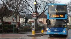 Metrobus 6953 on route 420 Sutton Green 21/12/16. (Ledlon89) Tags: london bus bsues londonbus londonbuses sutton surrey transport tfl